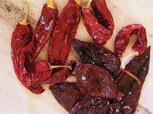 salsa roja de chiles guajillos y anchos